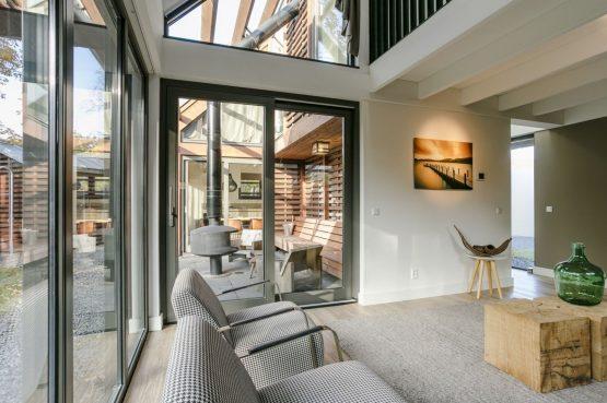 Villapparte-Dutchen-Villa Duijnvoet 6-luxe vakantievilla voor 8 personen-Schoorl-uitzicht op overdekt terras