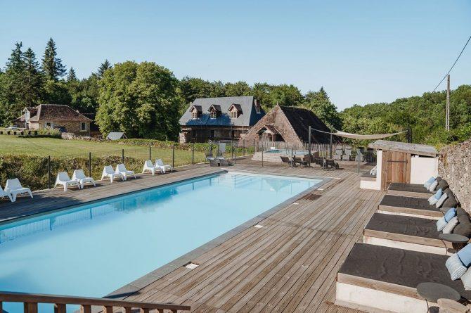 Villapparte-La Bastide - een kleinschalig vakantiedomein met 8 vakantiehuizen in de Haute Vienne met 2 zwembaden