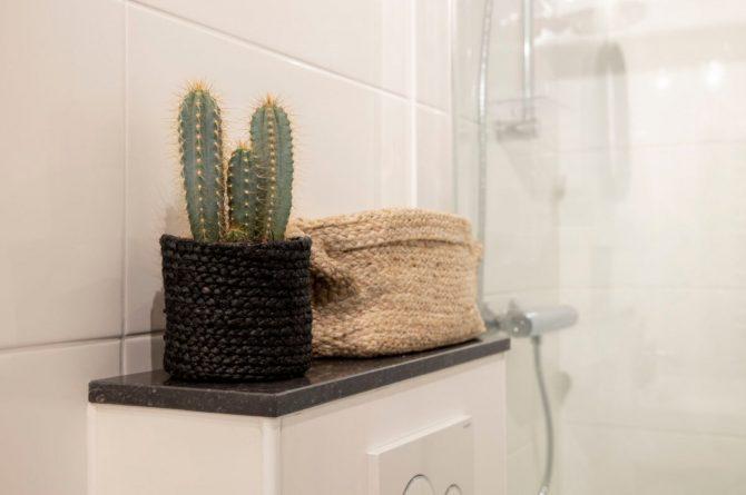 Villapparte-B&B Pakhuis Maassluis-2 luxe appartementen voor 2 tot 4 personen-aan de haven in Maassluis-sfeer badkamer