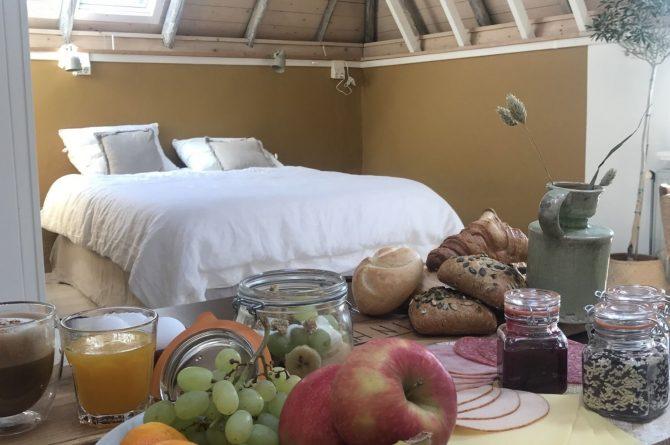 Villapparte-B&B in het Voorhuys-Doesburg-luxe appartement voor 2 personen-luxe ontbijt