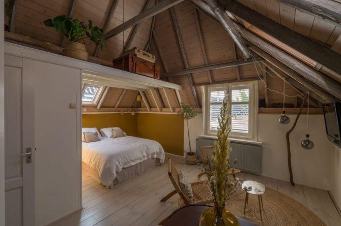 Villapparte-B&B in het Voorhuys-Doesburg-luxe appartement voor 2 personen-luxe slaapkamer