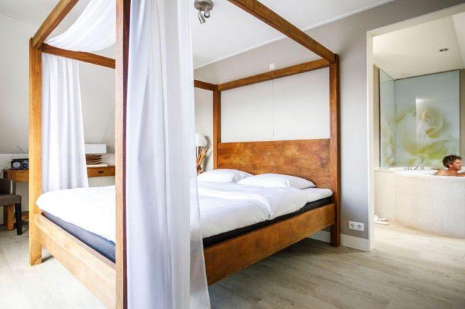 Villapparte-Landal-Hof van Saksen-Love2stay Boerderij-luxe vakantiehuis-2 personen-romantisch hemelbed