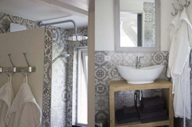 Villapparte-Natuurhuisje-Vakantiehuis Hof van Strijbeek-voor 4 personen-landelijk gelegen in Noord-Brabant-luxe badkamer
