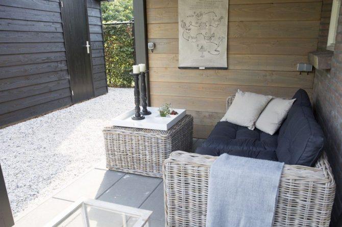 Villapparte-Natuurhuisje-Vakantiehuis Hof van Strijbeek-voor 4 personen-landelijk gelegen in Noord-Brabant-overdekt terras