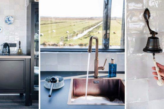 Villapparte-Natuurhuisje-Watervilla Zwarte Zwaan-Oostknollendam-luxe vakantiehuis op het water-6 personen-Zaanstreek-sfeer luxe keuken