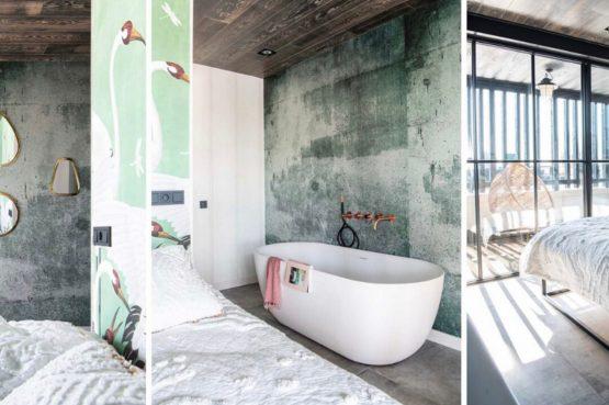 Villapparte-Natuurhuisje-Watervilla Zwarte Zwaan-Oostknollendam-luxe vakantiehuis op het water-6 personen-Zaanstreek-vrijstaand bad in slaapkamer