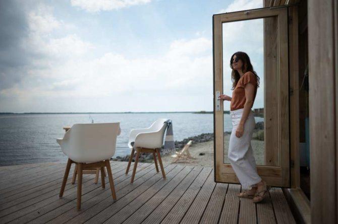 Villapparte-Roompot-Qurios Grevelingenstrand-Eco Lodge Grevelingenstrand-4 personen-zuid-holland-uitzicht