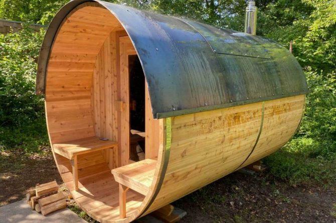 Villapparte-Special Villas-Vakantiehuis Stalen Boshuis-luxe vakantiehuis voor 4 personen-Oosterhout-Noord-Brabant-Finse sauna