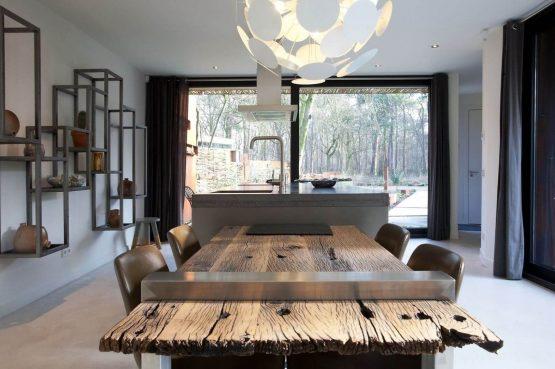 Villapparte-Special Villas-Vakantiehuis Stalen Boshuis-luxe vakantiehuis voor 4 personen-Oosterhout-Noord-Brabant-eethoek