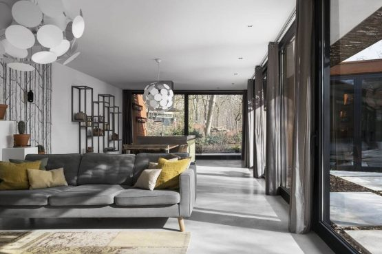 Villapparte-Special Villas-Vakantiehuis Stalen Boshuis-luxe vakantiehuis voor 4 personen-Oosterhout-Noord-Brabant-luxe woonkamer