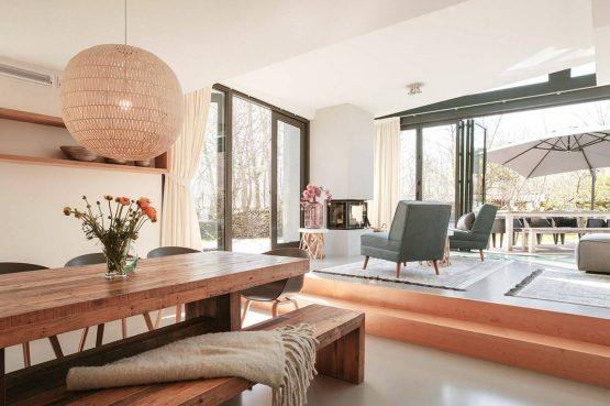 Villapparte-Villa Duynzoom 3-Park Duynzoom-luxe villa voor 8 personen met finse sauna-gezellige eethoek