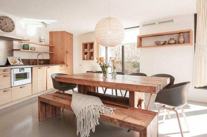 Villapparte-Villa Duynzoom 3-Park Duynzoom-luxe villa voor 8 personen met finse sauna-lexe keuken met eettafel