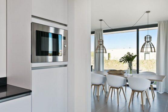 Villapparte-Zandvillas-Vakantievilla Waterlijn 3-luxe vakantiehuis voor 6 personen-Kamperland-Zeeland-moderne eethoek