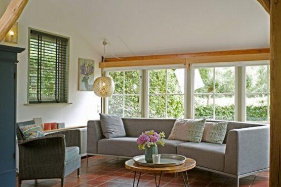 Villapparte-B&B-Vakantiehuis de Vrijstaten-Overrijsel-luxe vakantiehuis De Rietvogel-5 personen-knusse zithoek