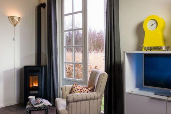 Villapparte-B&B-Vakantiehuis de Vrijstaten-Overrijsel-luxe vakantiehuis De Zwaan-3 personen-houtkachel