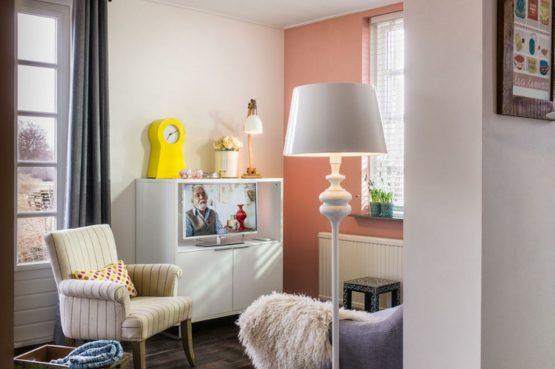 Villapparte-B&B-Vakantiehuis de Vrijstaten-Overrijsel-luxe vakantiehuis De Zwaan-3 personen-knusse zithoek