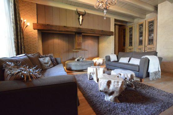 Villapparte-Belvilla-Vakantiehuis La Grande Maison Douce-luxe vakantiehuis voor 16 personen-Alphen-Noord Brabant-romantische woonkamer
