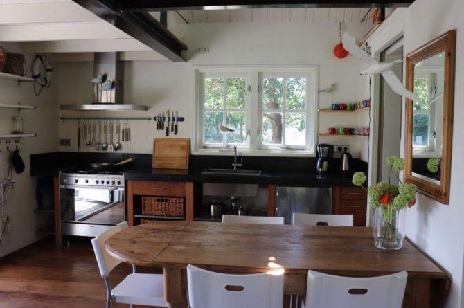 Villapparte-Natuurhuisje 35850-Vakantiehuis het Eiland-Romantisch vakantiehuisje voor 2 personen-Reeuwijkse Plassen-knusse keuken