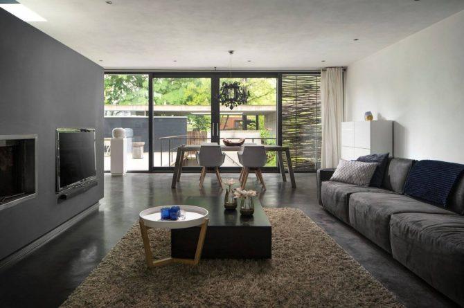 Villapparte-Special Villas-Vakantiehuis Betonnen Boshuis-luxe vakantiehuis voor 4 personen-Oosterhout-Noord-Brabant-knusse zithoek