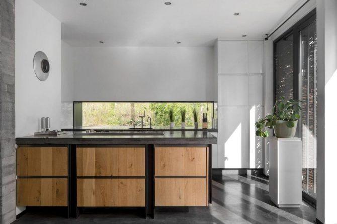 Villapparte-Special Villas-Vakantiehuis Betonnen Boshuis-luxe vakantiehuis voor 4 personen-Oosterhout-Noord-Brabant-leefkeuken