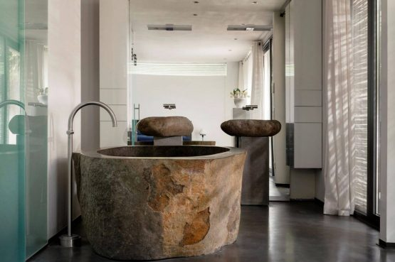 Villapparte-Special Villas-Vakantiehuis Betonnen Boshuis-luxe vakantiehuis voor 4 personen-Oosterhout-Noord-Brabant-luxe badkamer