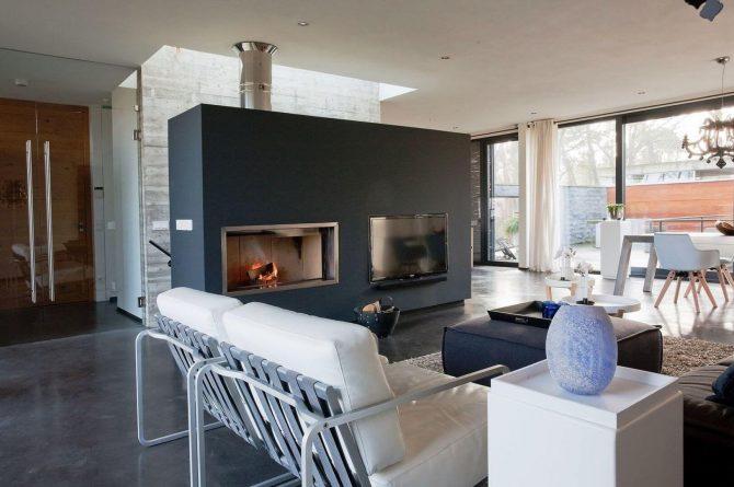 Villapparte-Special Villas-Vakantiehuis Betonnen Boshuis-luxe vakantiehuis voor 4 personen-Oosterhout-Noord-Brabant-luxe zithoek