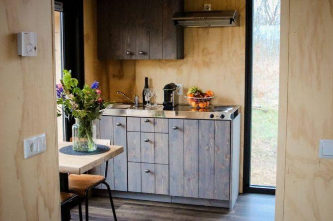 Villapparte-Tiny House Ljeppershiem-duurzaam en knus vakantiehuis voor 2 personen-Friesland-complete keuken