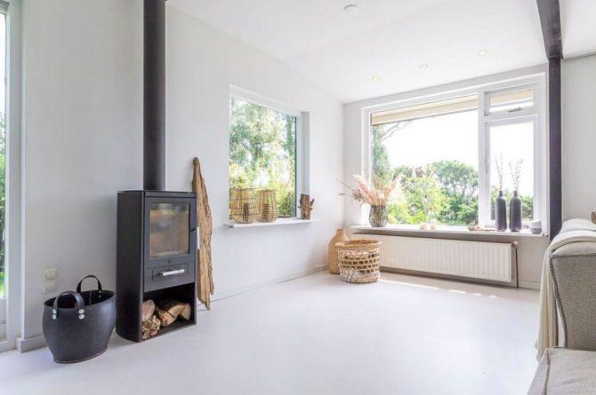 Villapparte-Belvilla-Vakantiehuis Gentiaan aan Zee-luxe vakantiehuis voor 6 personen-Julianadorp-Noord-Holland-houtkachel