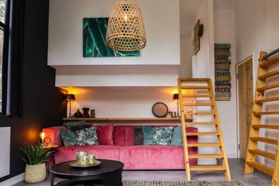 Villapparte-Droomparken-Tiny House Plus De Zanding-gezellig Tiny House voor 4 personen-Otterlo-Veluwe-knusse woonkamer
