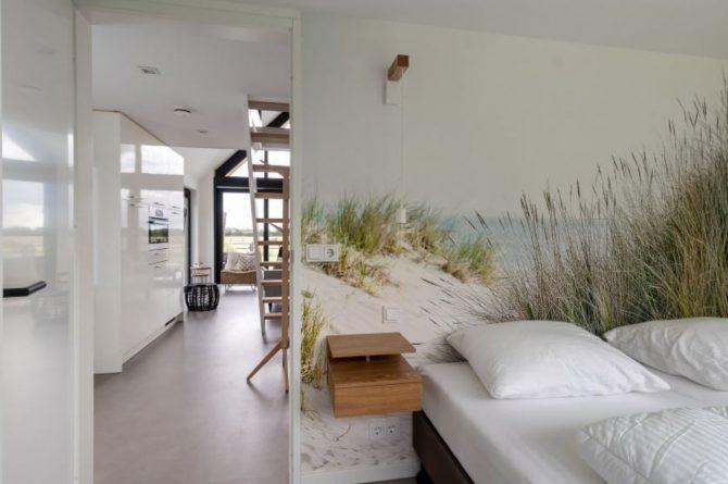 Villapparte-Natuurhuisje-Bosvilla Vrouwenpolder-luxe vakantiehuis voor 4 personen-Zeeland-slaapkamer begane grond
