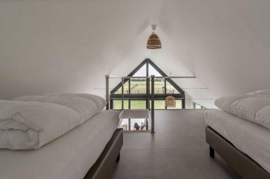 Villapparte-Natuurhuisje-Bosvilla Vrouwenpolder-luxe vakantiehuis voor 4 personen-Zeeland-slaapplek op vide