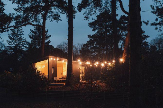 Villapparte-Noyr Tiny House-Veluwe-Nunspeet-Gelderland-2 personen-in het donker