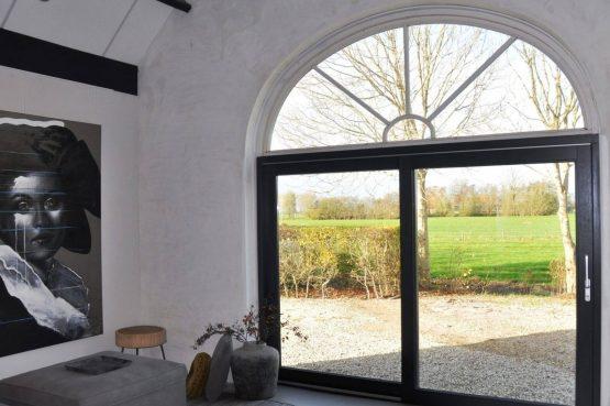 Villapparte-Special Villa's-Vakantiehuis Lindenhof Loënga-luxe vakantiehuis voor 2 personen-Sneek-Friesland-grote raampartijen