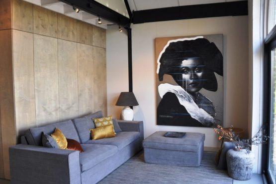 Villapparte-Special Villa's-Vakantiehuis Lindenhof Loënga-luxe vakantiehuis voor 2 personen-Sneek-Friesland-sfeervolle woonkamer