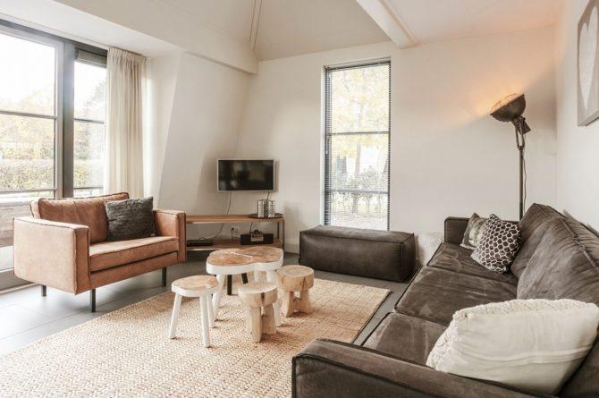 Villapparte-Villa Weideduyn 10-luxe vakantiehuis voor 6 personen met sauna en jacuzzi-Schoorl-Noord-Holland-romantische zithoek
