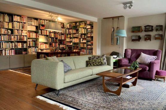 Villapparte-Belvilla-Boerderij Paulina Hoeve-knus vakantiehuis voor 4 personen-Alkmaar-Noord-Holland-gezellige woonkamer