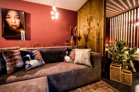 Villapparte-Droomparken-Bad Hoophuizen-Modus Wellness-knus vakantiehuis voor 2 personen-Veluwemeer-romantische zithoek