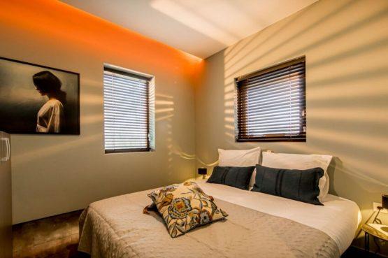 Villapparte-Droomparken-Bad Hoophuizen-Modus -modern vakantiehuis voor 4 personen-Veluwemeer-romantische slaapkamer