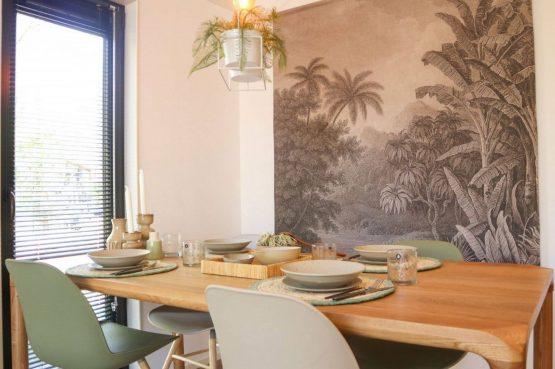 Villapparte-Droomparken-Forest Lodge Maasduinen-luxe lodge voor 4 personen-Noord-Limburg-design eethoek