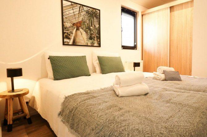 Villapparte-Droomparken-Forest Lodge Maasduinen-luxe lodge voor 4 personen-Noord-Limburg-romantische slaapkamer