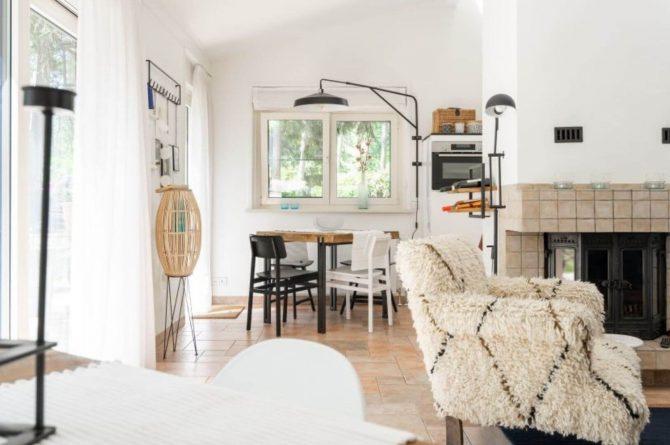 Villapparte-Natuurhuisje 35841-Vakantiehuis Midden in het Bos-romantisch vakantiehuis voor 6 personen-Lage Vuursche-Utrecht-woonkamer met openhaard