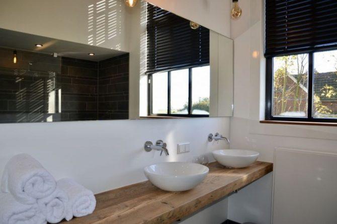 Villapparte-Natuurhuisje 51319-Vakantiehuis Het Kleine Kerkje-romantisch vakantiehuis voor 2 personen-Friesland-badkamer met veel licht