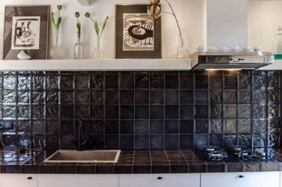 Villapparte-Natuurhuisje-Vakantiehuis Terschuur-romantisch vakantiehuis voor 3 personen-Terschuur-Gelderland-luxe afwerking keuken