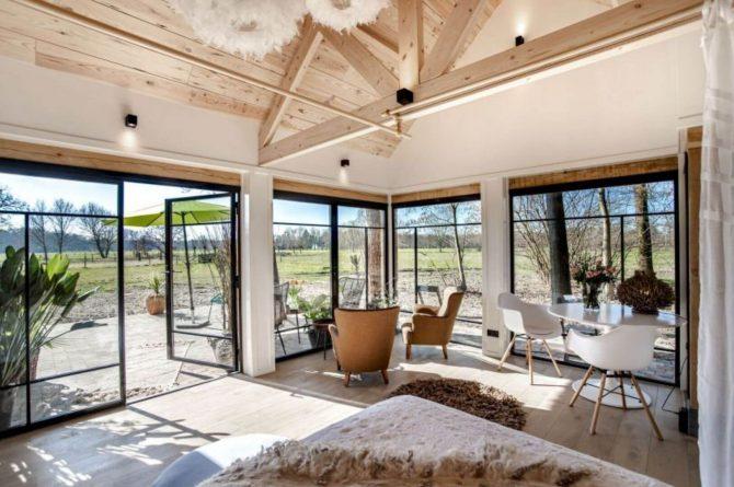 Villapparte-Natuurhuisje-Vakantiehuis Terschuur-romantisch vakantiehuis voor 3 personen-Terschuur-Gelderland-zithoek met uitzicht