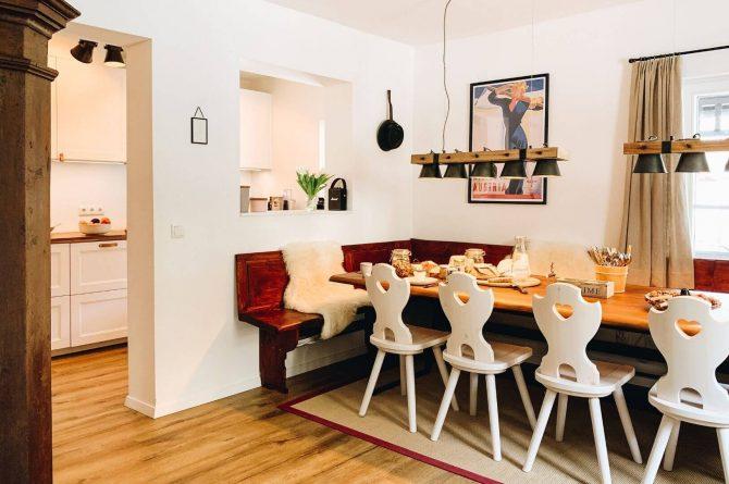 Villapparte-Villa Kraft-Villapparte Select-Unieke appartementen-Bad Gastein-Oostenrijk-gezellige eethoek