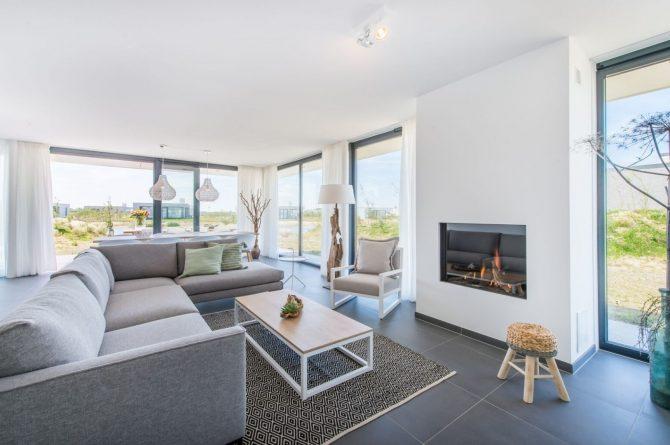 Villapparte-Zandvillas-Vakantievilla Zandbank 12-luxe vakantiehuis voor 8 personen-Kamperland-Zeeland-gezellige zithoek