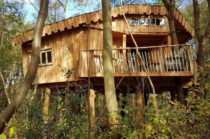Villapparte-Ardoer-Boomhut XXL-romantische boomhut voor 4 personen-Camping Reeenwissel-Drenthe-in de bossen