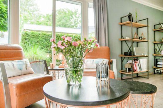Villapparte-Belvilla-Vakantiehuis Duinvilla-luxe vakantiehuis voor 6 personen-met zwembad-Kaatsheuvel-Noord-Brabant-sfeer zithoek