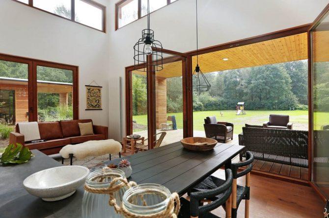 Villapparte-Boek uw buitenhuis-Woody Lodge Valerie-luxe vakantiehuis voor 4 personen-Twente-gezellige woonkamer