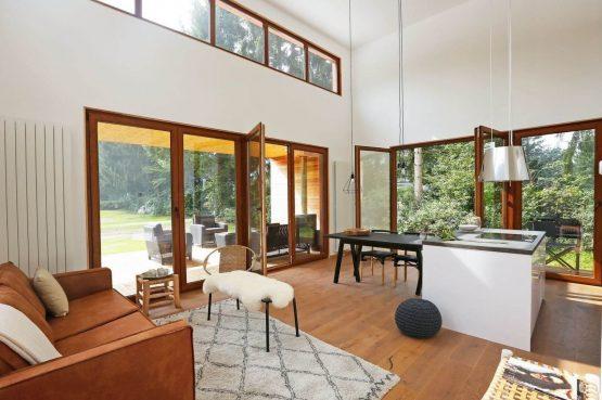 Villapparte-Boek uw buitenhuis-Woody Lodge Valerie-luxe vakantiehuis voor 4 personen-Twente-gezellige zithoek